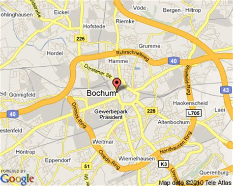 map of bochum germany bochum germany