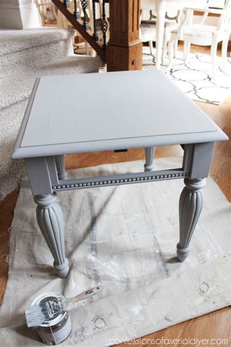 grey washed end tables grey white painted side table confessions of a serial