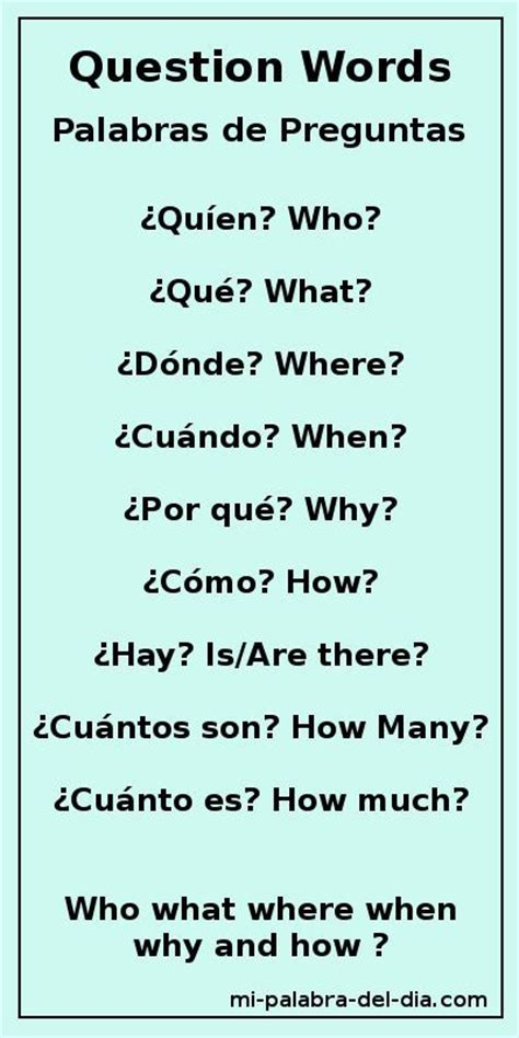 preguntas con both question words who what where when why and how