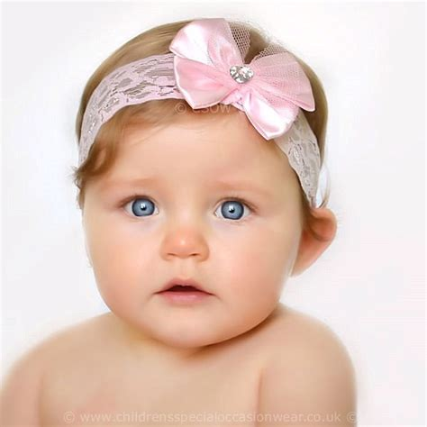 baby headbands baby headband uk baby pink lace headband with sparkly satin bow