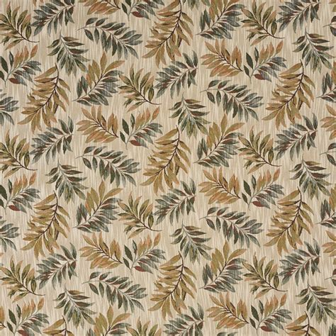 upholstery fabric leaves green and orange floral leaves tapestry upholstery fabric