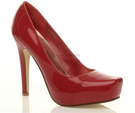 womens square toe platform pumps high heel