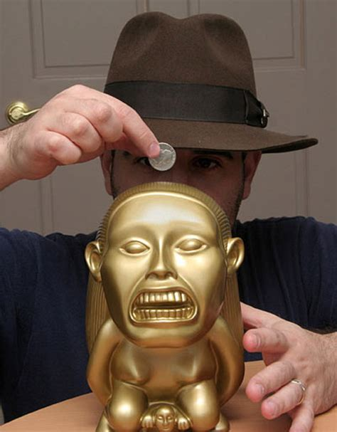 Banks The Next Jones by Indiana Jones Golden Fertility Idol Bank The Green