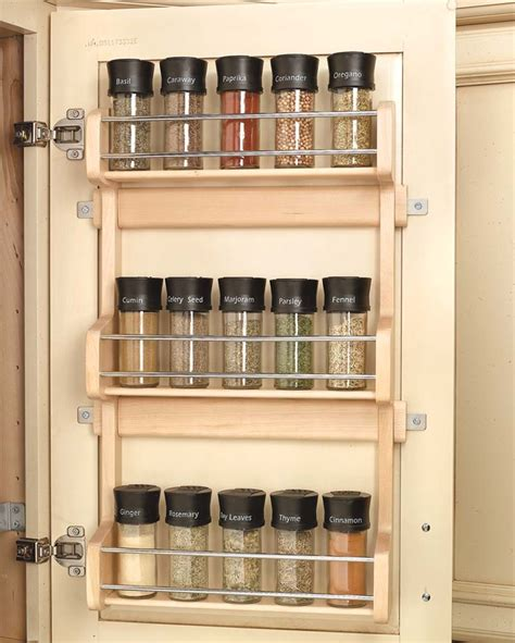 spice rack kitchen cabinet 13 inch door mount spice rack 4sr 18