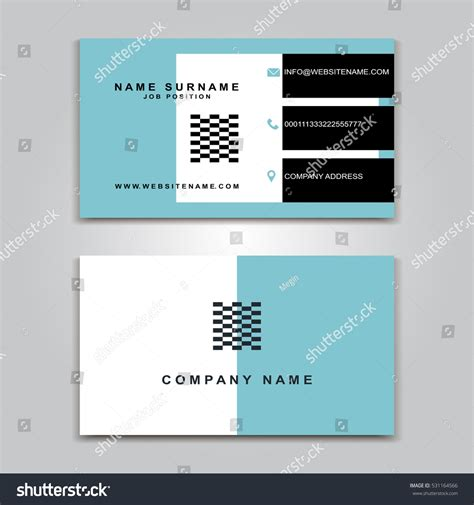 empty business card template fron and back vector business card creative design modern stock vector