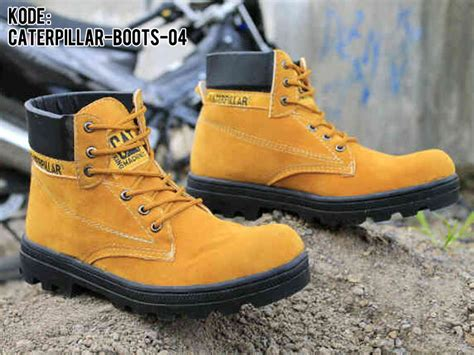 Sepatu Boots Caterpillar top steel toe safety shoes wallpapers