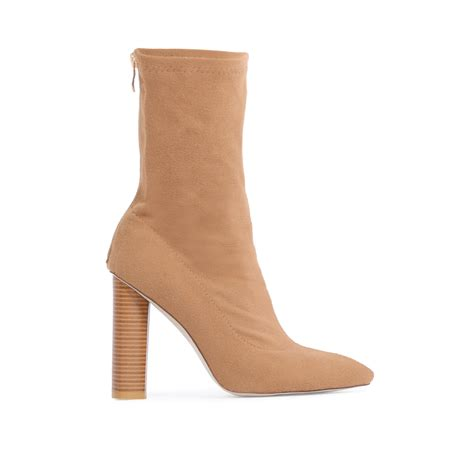 sock boots womens ebay new womens zip up stretch fabric sock fit ankle boots in camel jersey uk 3 8 ebay