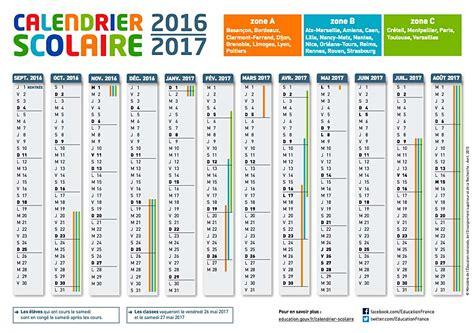 Calendrier 2016 Vacances Scolaires Lyon 187 Vacances Scolaires 2016 2017 C Est Bient 244 T Les