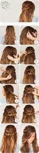 coiffure facile cheveux longs lisses coiffure simple et