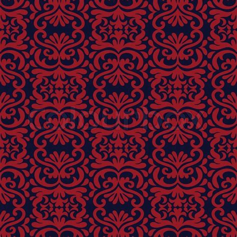 red color pattern design vintage background damask ornament blue and red colors