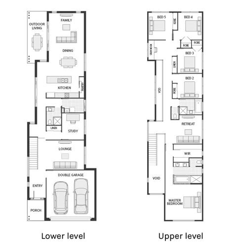 narrow block floor plans floor plan friday narrow but large 2 storey home