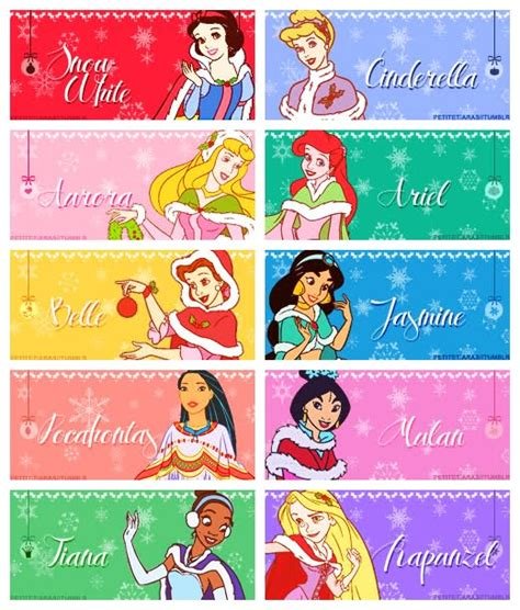 disney princess belle dog tags princess gift tags
