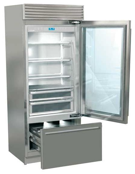 Refrigerator With Glass Doors For Homes Fhiaba Refrigerator Xi8990tgt Professional Series Glass Door Contemporary Refrigerators