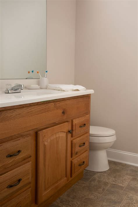 builders grade bathroom a vs builder grade bathroom makeover the makerista