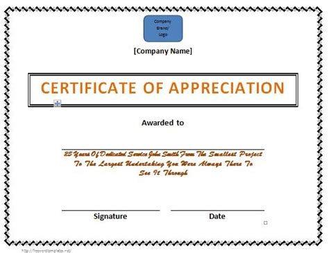 Certificate Letter Of Appreciation 31 Free Certificate Of Appreciation Templates And Letters