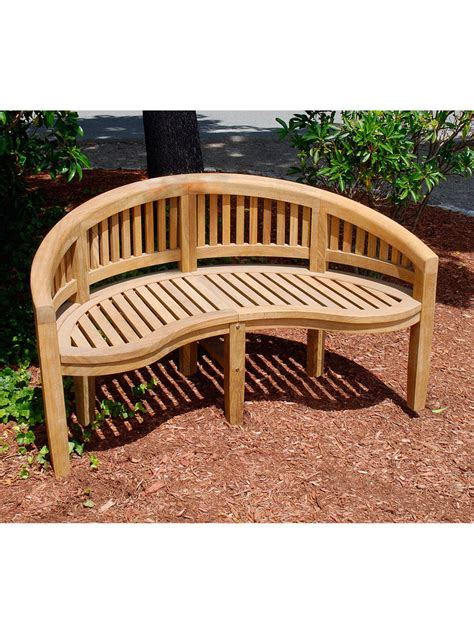 outdoor wood bench monet curved garden bench gardenerscom