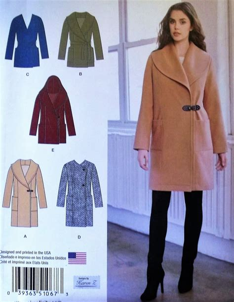 coat pattern ease misses easy to sew jacket or coat simplicity 1067 pattern