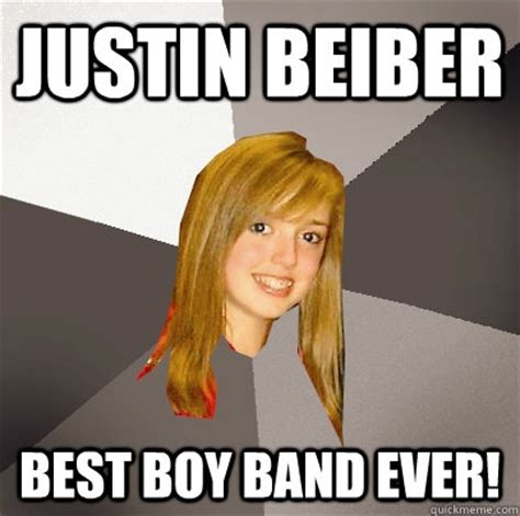 Boy Band Meme - justin beiber best boy band ever musically oblivious