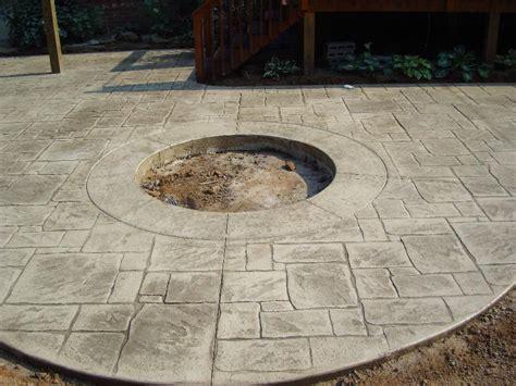 Pit On Concrete Patio by Sun Buff Sted Concrete Patio W Pit