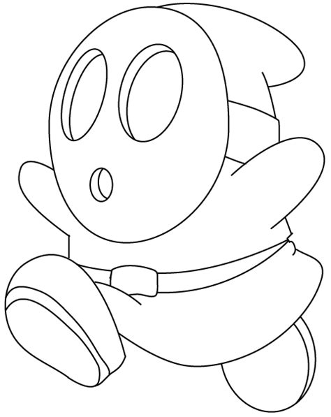 how to draw shy guy from nintendo s super mario in