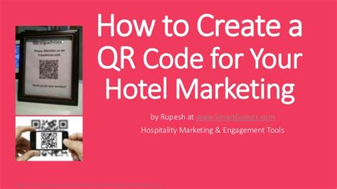 how to create a qr code for your hotel marketing
