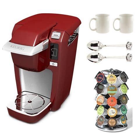 Coffee Consumers   Keurig K10 Mini Plus Coffee Maker with 6 bonus K Cups (Red) plus Accessory Bundle