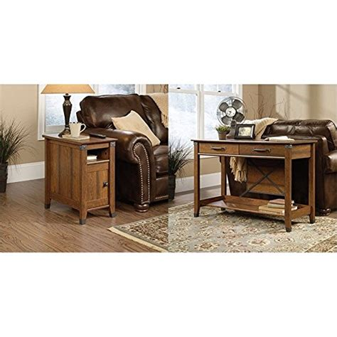 sauder carson forge sofa table washington cherry finish cherry sofa tables console tables
