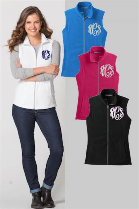 Hoodie Killa Jaket All Colour monogrammed microfleece vest in all colors