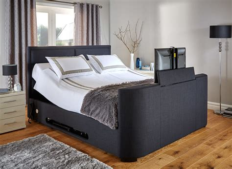 the dream bed truscott midnight blue fabric tv bed frame dreams