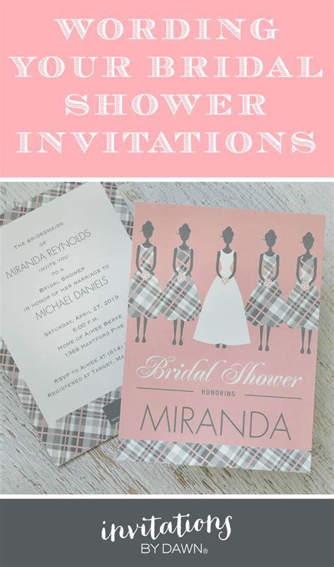 bridal shower invitations wording etiquette wording your bridal shower invitations