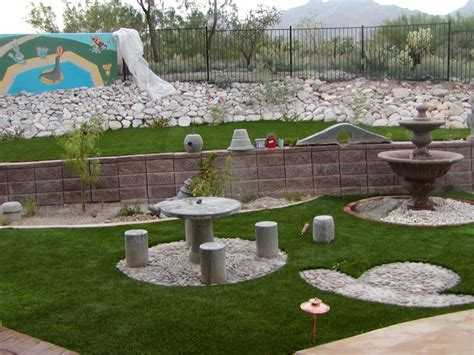 Stone Backyard Patio Front Yard Landscaping Back Yard Backyard Landscaping Ideas With Rocks