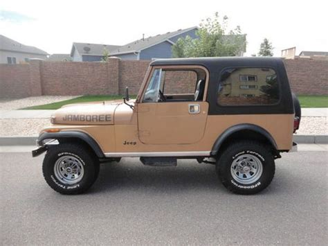1982 jeep jamboree sell used 1982 jeep cj7 jamboree 282 factory ac hard
