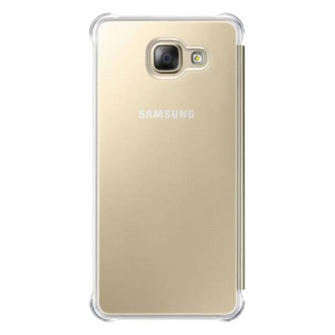 Samsung Galaxy A5 Bumper Armor Smart Flip Slim View Clear Mirror Cover official samsung galaxy a5 2016 clear view cover gold