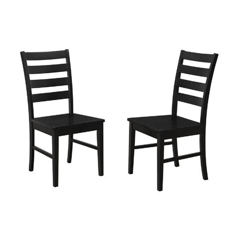 Black Ladder Back Dining Chairs Walker Edison Furniture Company Black Wood Ladder Back Dining Chair Set Of 2 Hdh2lbbl The
