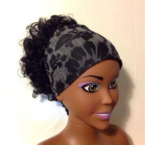 Bandana Headband black jacquard bandana headband bandana headband wide