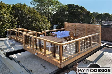 terrasse le patio design construction design de patios sur le toit