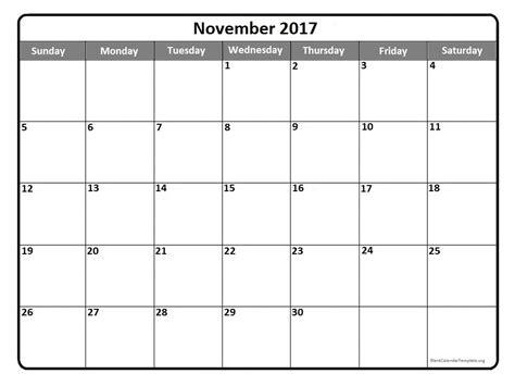 Calendar November 2017 Template November 2017 Calendar Template Printable Calendar Templates