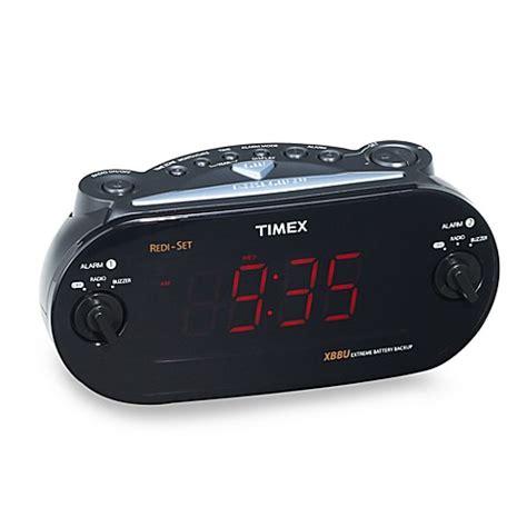 timex 174 redi set 174 dual alarm clock radio bed bath beyond