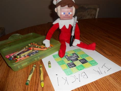 minecraft printable for elf on the shelf 17 best images about elf on a shelf on pinterest elf on