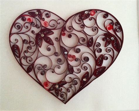 heart quilling pattern gorgeous quilled heart by karen cain designs visit me on