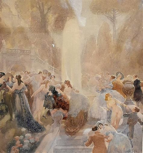 Lindsays A Lot Of In Japan by Norman Lindsay A Most Outstanding Original Australian Water