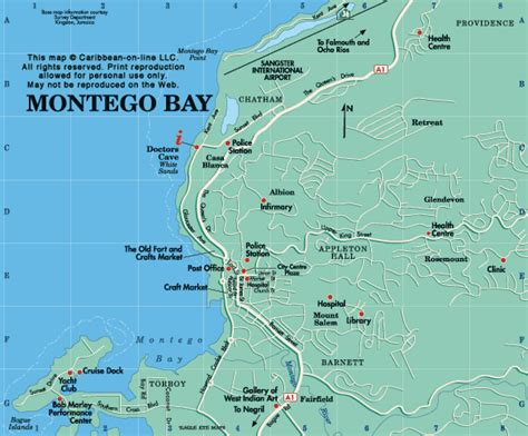 jamaica map map of jamaica from caribbean on line montego bay map map of montego bay jamaica from