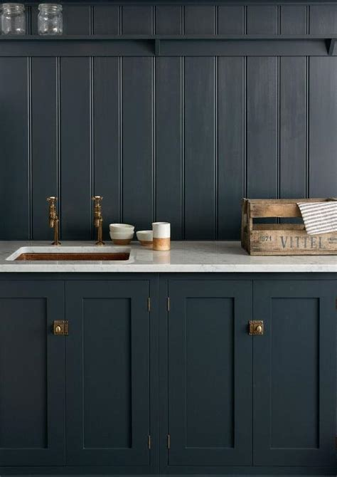 dark navy kitchen cabinets navy shaker kitchen cabinets with navy beadboard