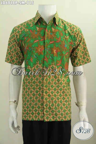 Kemeja Pria Lengan Pendek Trendi kemeja batik trendy lengan pendek dengan nuansa warna