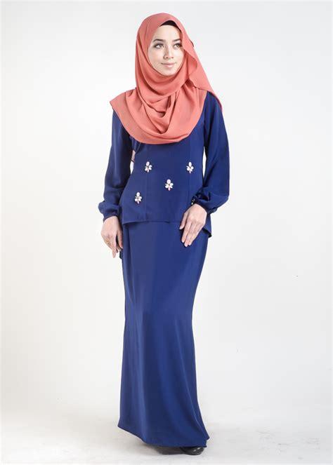 Baju Kurung Pahang Royal Blue baju kurung moden asyura royal blue lovelysuri