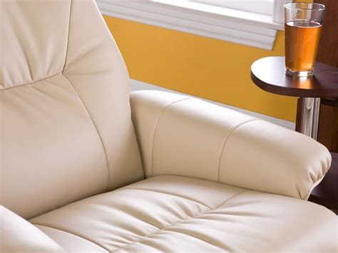 Taupe Bonded Leather Recliner Ottoman How Do You Spell Ottoman