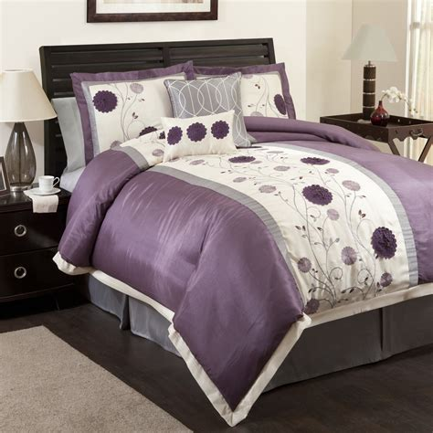 purple comforter set purple 20bedding 20set jpg