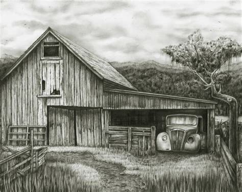 scheune zeichnung pencil drawings of barns bob