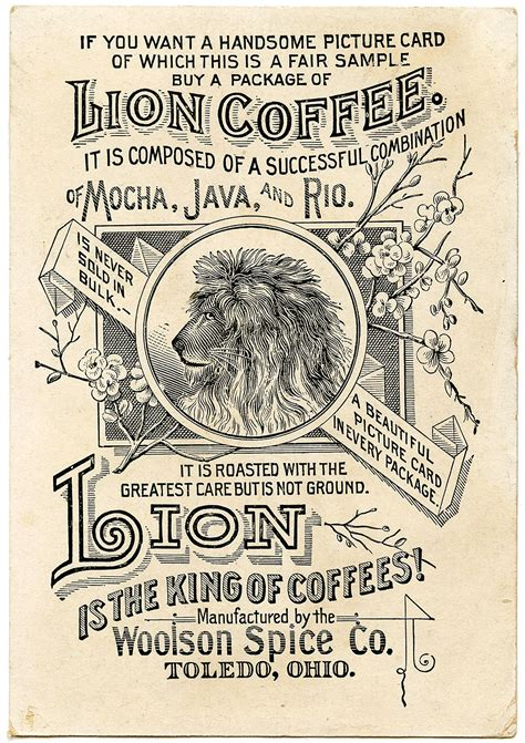 a century of graphic old advertising clip art coffee ad the graphics fairy