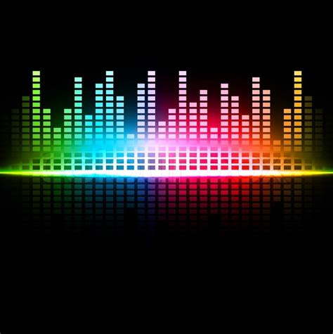 Color Spectrum Energy Levels rainbow multicolored abstract sound background stock